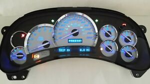 5w 05 06 2005 2006 Chevy Silverado Truck Premium Ss Blue Led Replacement Cluster