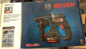 Bosch Rhh181 01 18v Lithium Brushless 3 4 Sds plus Rotary Hammer Drill Kit
