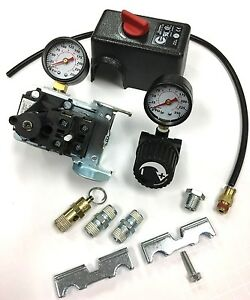Air Compressor Pressure Switch Kit With Regulator Gauge Safety 95 125 Psi