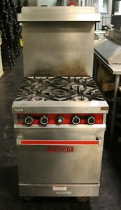Vulcan 24 4 Burner Range With Oven M 24l Natural Gas