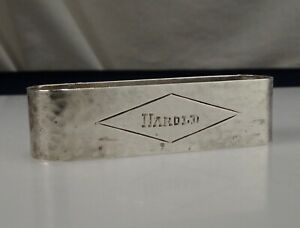 Vintage Hand Wrought Sterling Silver Napkin Ring Harold 55213