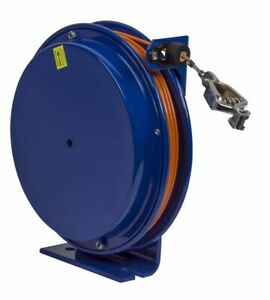 Coxreels Sd 100 Static Discharge Reel W 100 Of Galv Steel Cable Spring Rewind