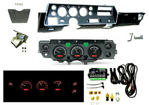 70 72 Chevelle Ss Super Sport Dash Conversion Kit Dakota Digital Vhx 70c cvl k r