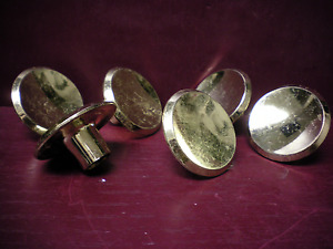 6 More Available Vintage Mid Century Brass Cabinet Door Pull Knob 2 Concave