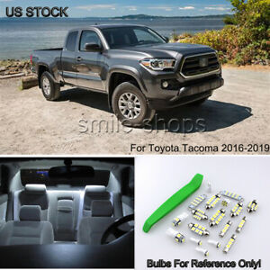 12x For 2016 2019 Toyota Tacoma Bright White Led Interior Light Package Kit tool