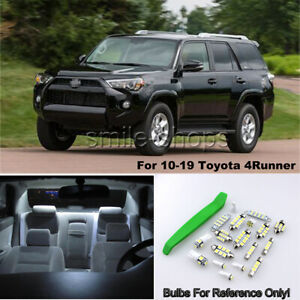 For 10 19 Toyota 4runner Bright White Led Interior Exterior Lights Kit tool