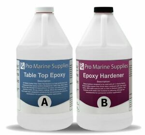 Pro Marine Supplies Crystal Clear Bar Table Top Epoxy Resin Wood Table Coating