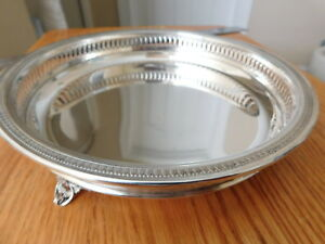 Fine Italian 800 Silver Footed Tray Dish Bowl 280 Grams 8 1 2