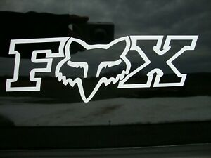 Fox Racing Decal Sticker Mx Motocross Racing Vinyl Car Truck Window 9 w X 3 tall