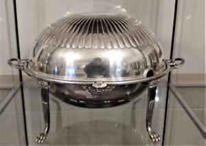 Goldsmith Silversmith Co Silver Plated Revolving Domed Top Breakfast Server