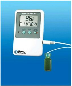 Fisher Traceable Lab Thermometer Digital Refrigerator freezer r 10 Ml Bottle