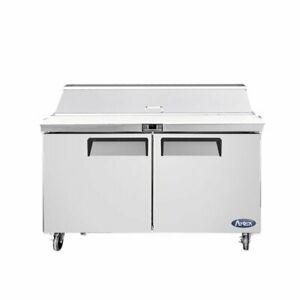 Atosa Usa Msf8302gr 48 Two Section Sandwich Salad Prep Table 13 4 Cu Ft