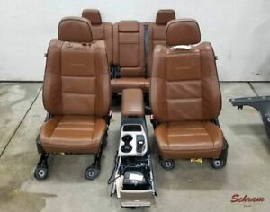 14 17 Jeep Grand Cherokee Summit Oem Seat Set W Console Leather Heated Power