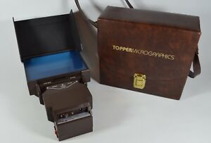 Vintage Topper Portable Microform Microfiche Viewer Plm 46 tested no Cord