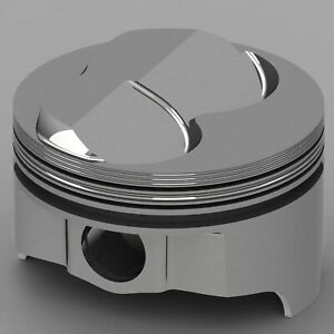 Icon Forged Piston Set Fits Chevy 327 Rod 6 000 Hollow Dome 9 7cc 2v