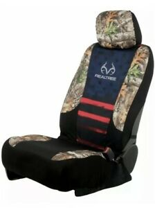 2 Realtree Americana Edge Camo Lowback Universal Complete Set Seat Covers Red
