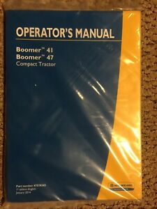 New Holland Boomer 41 Boomer 47 Compact Tractor Operator s Manual