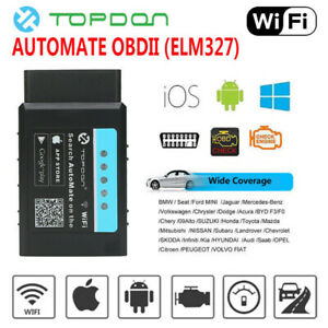 Car Obd2 Scanner Elm327 Wifi Vehicle Fault Code Reader Obdii Adapter Auto Tool