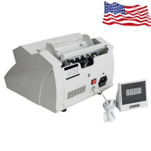 Bill Counter Money Counting Cash Machine Counterfeit Detector Uv Mg Bank 110v