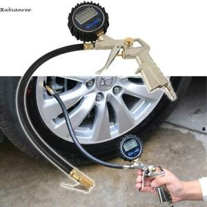 Air Tire Inflator With High Accurate Digital Pressure Gauge For Car Bike Lcd