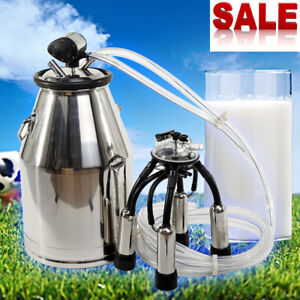 Hot Sale 25l 304 Pump Milking Machine Milker Cow Goat Milking Machine