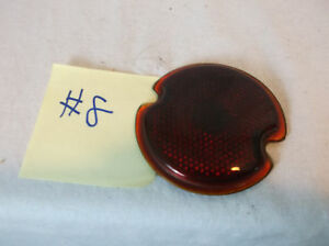 1930 40s Vintage Truck Red Dome Glass Clearance Cab Lights Ratrod 8