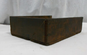 Small Antique Wood Box Nailed Crate Primitive Viintage Old Great Patina