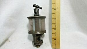 Vintage Michigan Lubricator Co Brass Hit Mis Engine Oiler Glass 6l