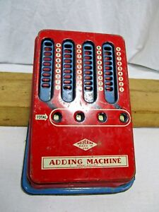 Old 1940 S Mechanical Adding Machine Wolverine Vintage Pull Dial Hand Calculator