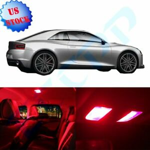 14pcs Red Car Led Package Lights Kit For Acura Mdx 2001 2009 Interior Bulbs Lamp