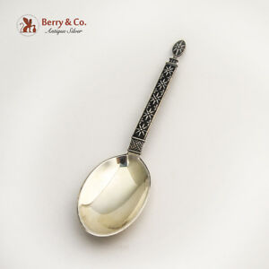 Enameled Spoon Sterling Silver Tostrup Norway