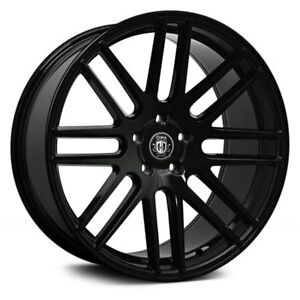 20 Curva C16 Wheels Black Rims Tires Fit Maxima 350z Altima Accord Civic Camry