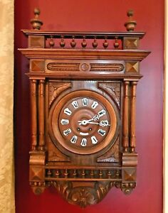 Beautiful Antique 18th Century Indecompatable Progres French Wall Clock