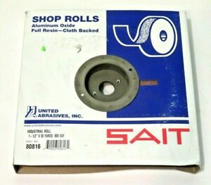 United Abrasives sait 80816 Industrial Shop Roll 1 1 2 X 50 Yds 80 Grit