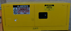 Used Justrite 891320 12 Gallon Steel Safety Storage Cabinet