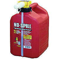 No spill 1405 Gas Can 2 5 Gal Capacity Plastic Red