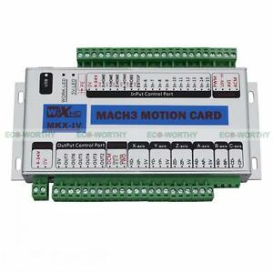 Mk3 400khz 4 Axis Motion Control Card Interface Breakout Board Lathe For Mach3