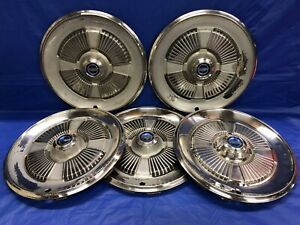Vintage Set Of 5 1965 Ford 15 Hubcaps Galaxie Fairlane Country Squire