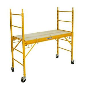 Werner 6 Ft Scaffold 1000 Lbs Steel Rolling Easy To Move And Store Design