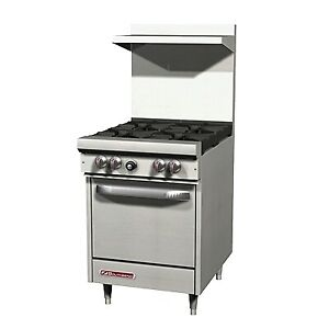 Southbend S24e 24 S series Gas Restaurant Range 1 Space Saver Oven 4 Burners