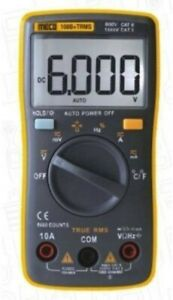 Digital 108b Trms Multimeter Pocket Size 6000 Counts Black