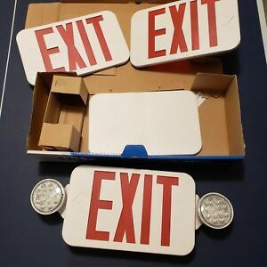 Compass 2 light Thermoplastic Led Emergency Unit exit Combo Ccr