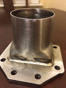 3 00 T6 Turbo Flange And Up Pipe W Support Tabs Stainless