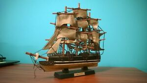 Old Vintage Model Sailing Ship The Red Jacket