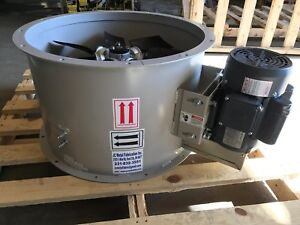 24 Dia Tubeaxial Exhaust Fan For Paint Spray Booth Single Phase