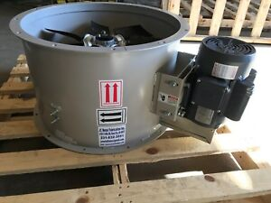 18 Dia Tubeaxial Exhaust Fan For Paint Spray Booth Single Phase