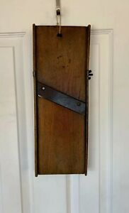 1800 S Antique Wooden Cabbage Cutter Slaw Wood 1 Metal Blade Primitive Country