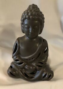 Bronze Buddha Ceramic Smoke Backflow Incense Burner W Incense