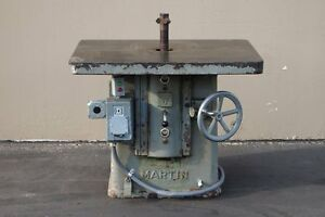 Martin 1 2 Single Spindle Shaper 7 5 Hp woodworking Machinery