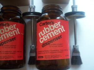 Lot Of 3 Vintage Carter s Rubber Cement Dispensers B632 Pint Size
